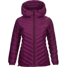 Peak Performance Frost Down Hooded Jas Dames, blood cherry